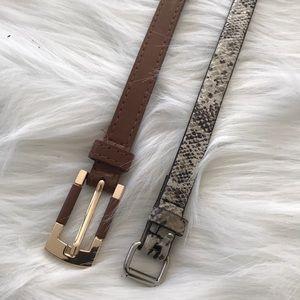 Two XS belts